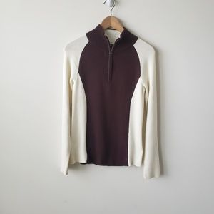 Ralph Lauren brown and cream two toned sweater  M